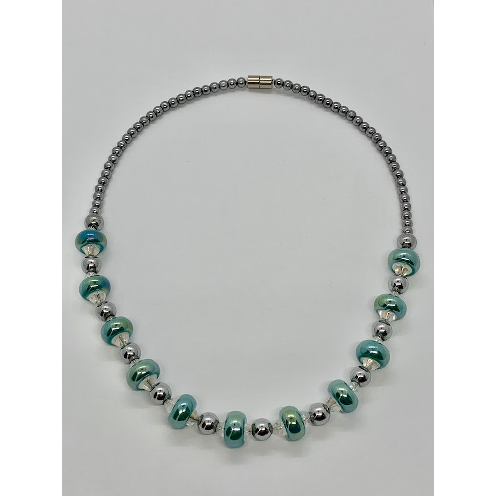 Fayre Maiden Turquoise Porcelain Rondelle Necklace