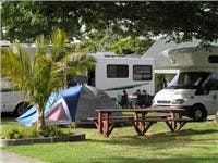 Nice tent site. Northshore Top10 Holiday Park near Auckland.