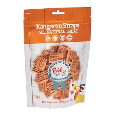 Pooch Treats Kangaroo Straps 325g