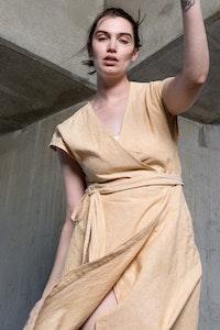 Quillan Pottery Wrap Dress - Buttercup