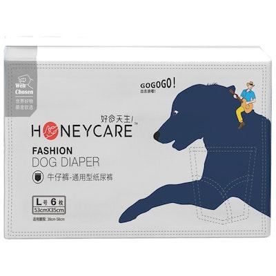 Honeycare Jean Style Dog Diaper (Female) - L 6pcs