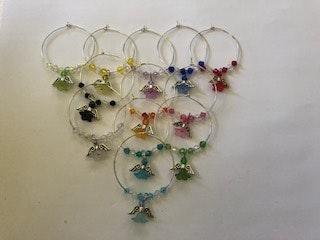 Handmade By Bronzerose Mini Angel Wine Charms