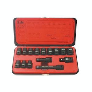 "SP Tools 1/2""dr Impact 6pt Metric Socket 15pc Set"