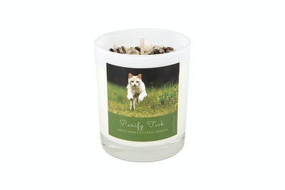 Kitty Kitchen Purify Tick Feline Ritual Candle