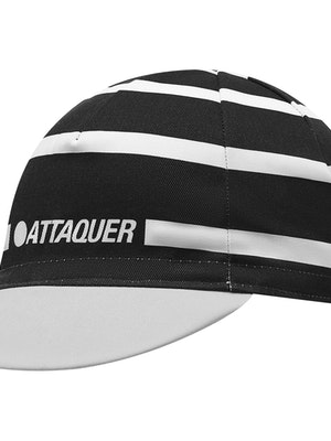 Attaquer Stripe Logo Cap Black