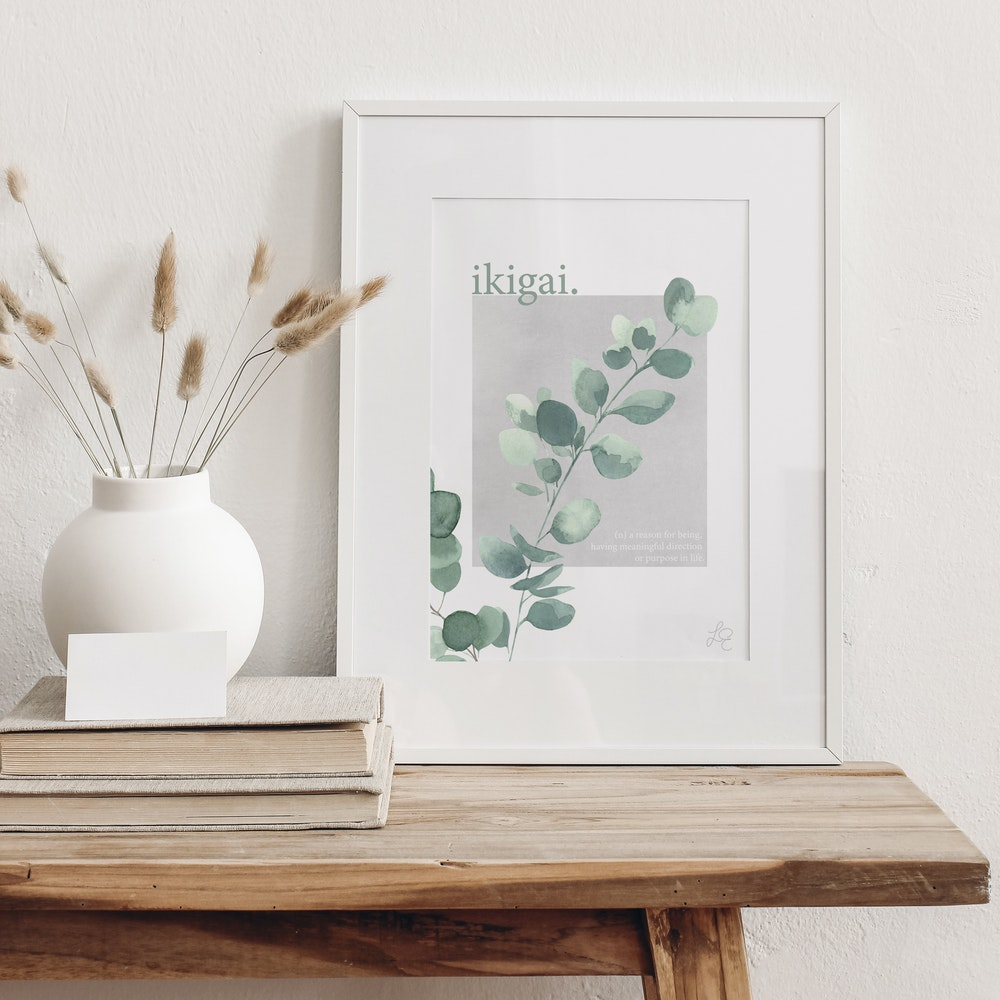 Laura Elizabeth Illustrations Ikigai Fine Art Print