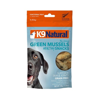 K9 Natural Green Lipped Mussel Freeze Dried Snacks 50G