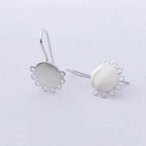 Sterling Silver smiley eye drop earrings