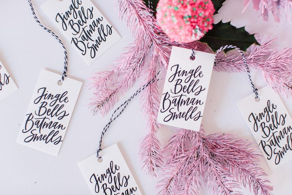 LENZO Christmas Frankie's Girl Gift Tags