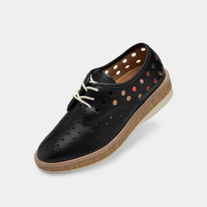 Rollie Nation Derby Midsole Cork Circle Punch Black