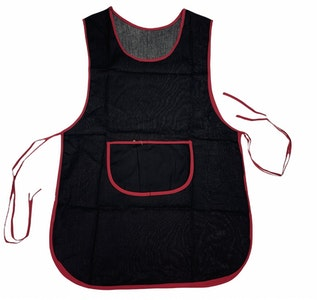 Double Sided Apron Cleaning Shop Coffee Cafe Bib - Black/Red