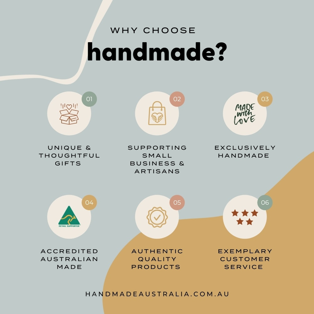 Why shop with Handmade? We can think of a few reasons...