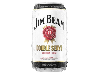 Jim Beam White & Cola Double Serve Can 375mL