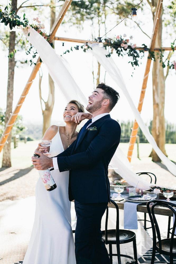 LENZO Boho Byron Bay Wedding Couple