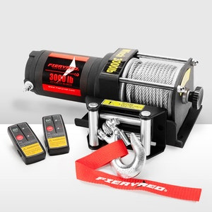 12V 3000LBS Electric Winch Steel Cable