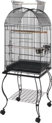 Bono Fido Parrot Cage 45701 With Stand Black