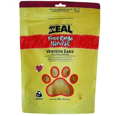 Zeal Free Range Naturals Venison Ears Dog Cat Treat 125g