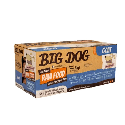 Big Dog Goat Raw Food for Dogs 3kg