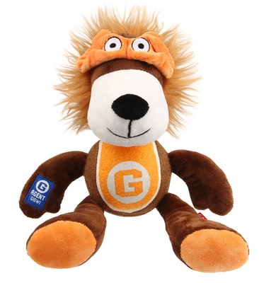 GIGWI Agent Lion Plush With Tennis Ball