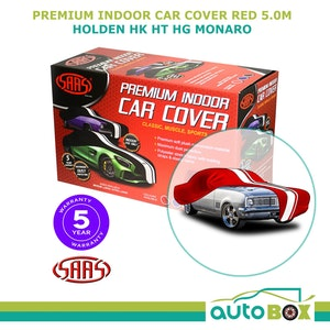 SAAS PREMIUM RED SHOW CAR COVER INDOOR CLASSIC fits to 5.0m HK HT HG HT MONARO