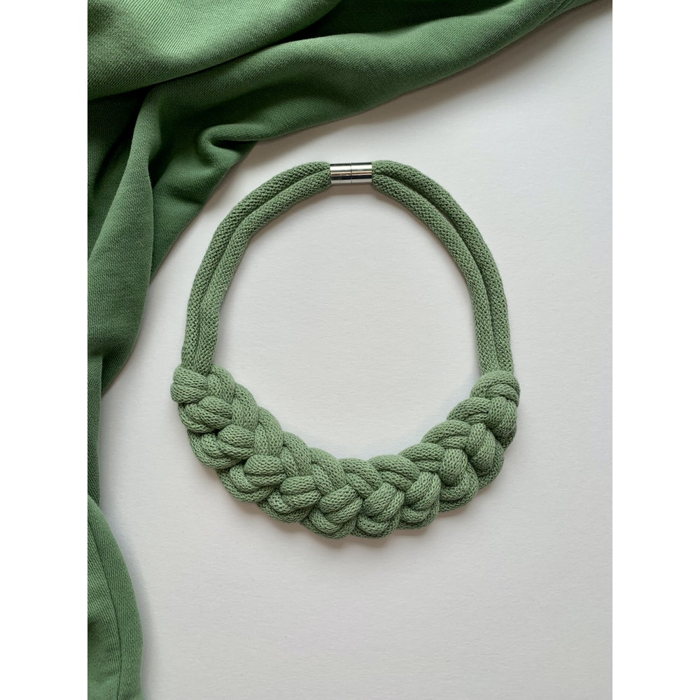 Form Norfolk Loop Knot Necklace In Sea Glass Green