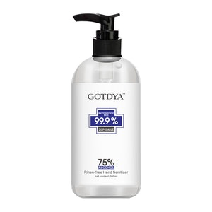 GOTDYA 300ml 75% Alcohol Antibacterial Hand Sanitizer Gel Kills 99.9% Germs Rinse-Free Pump Bottle