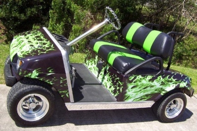 Golf Cart Detailing Permanent Renewal, Body, Plastic, Rubber, Windshield