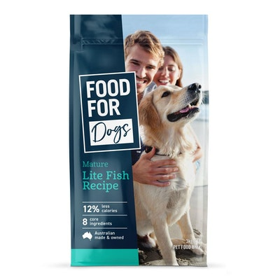 Food For Dogs Mature Adult Lite Fish Recipe Dry Dog Food