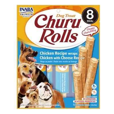 INABA Churu Rolls Dog Treat Chicken w/ Cheese 6 x 96g