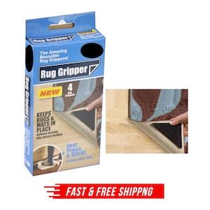 8x RUG GRIPPERS Non Slip Reusable Carpet Mat Gripper Anti Skid Washable Grip New