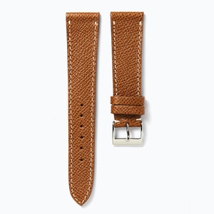 Time+Tide Watches  Light Brown + White Stitch Elegant Leather Strap