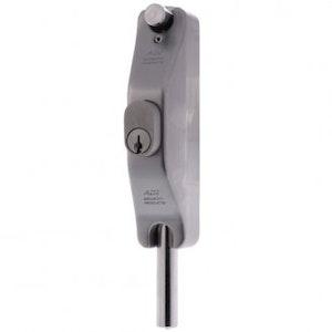 ADI SL5 narrow style lockable bolt for aluminium doors, silver