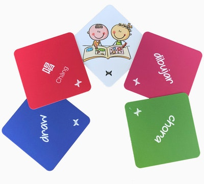 Kipepeo Actions Matching-Memory Game 2 languages
