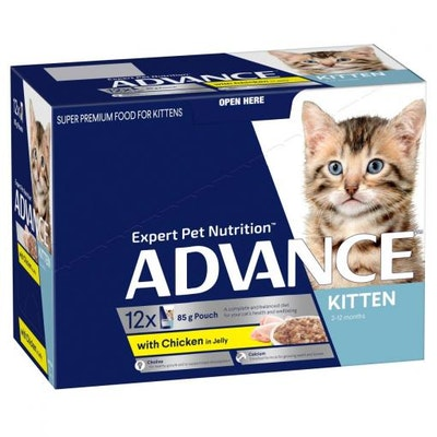Advance Kitten Chicken in Jelly Wet Cat Food 12x85G