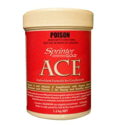 Sprinter Gold Ace Antioxidant Formula Greyhound Supplement - 2 Sizes