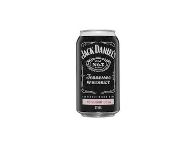 Jack Daniel's & No Sugar Cola Can 375mL