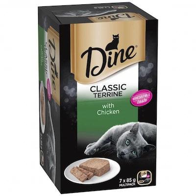 Dine Terrine & Chicken Wet Cat Food 7X85G