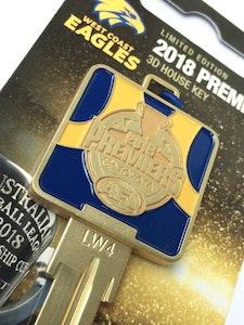 Creative Keys West Coast Eagles Premiers 2018 Limited Edition House Key Blank