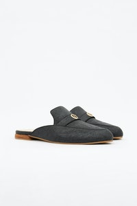 1 People Cairo Mules in Charcoal Black