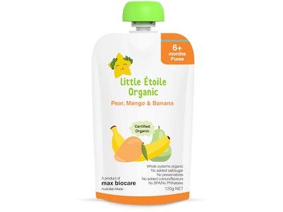 Max Biocare Little Etoile Organic - Pear, Mango & Banana