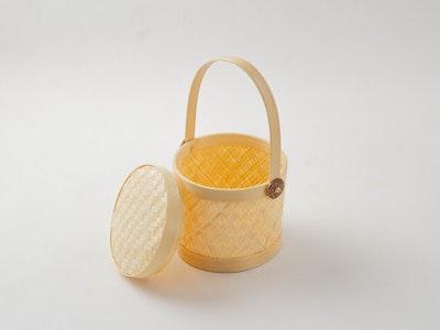 Kayu&Co. Rural Artisan Hand-Woven Mini Bamboo Basket
