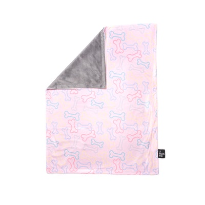 La Doggie Vita Neon Bone Pink Blanket
