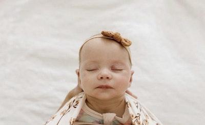 Brown Broderie Bow Headband - Mae + Rae