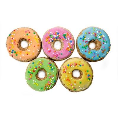 Veggie Paws Rainbow Sprinkle Donuts (5 pce)