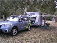 Santa Fe R finds a  home among the gum trees Tathra Beach Motor Village 051