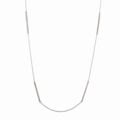 I Dream of Silver Classic Long Bar Necklace in sterling silver