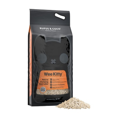 Rufus & Coco Wee Kitty Clumping Corn Litter 9kg