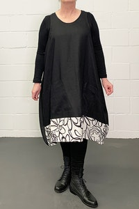 Beside Me Tunic - B&W Front Panel