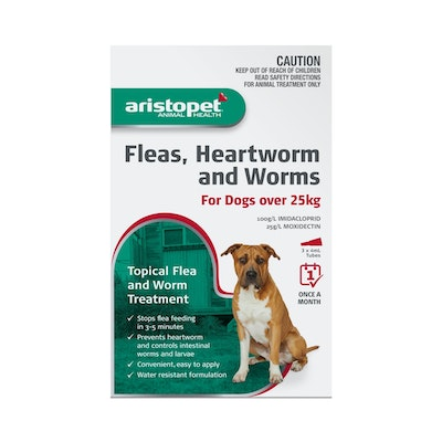 Aristopet Fleas, Heartworm & Worms For Dogs over 25kg