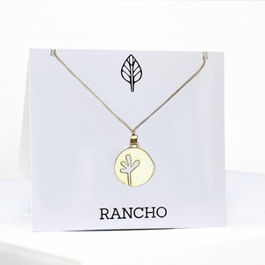 Large Seedling Disc Pendant Necklace